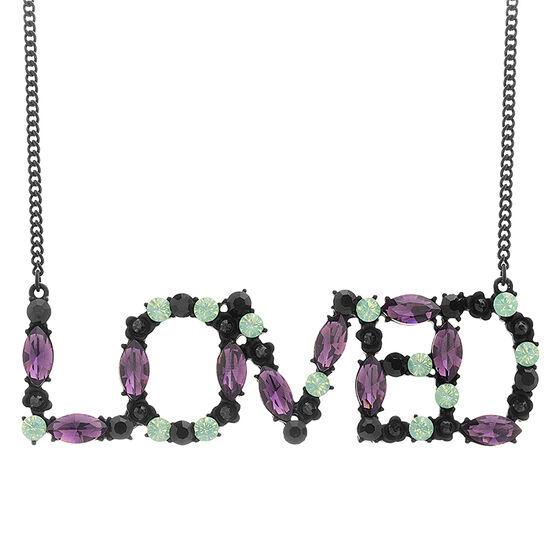 Steve Madden Casted Love Necklace