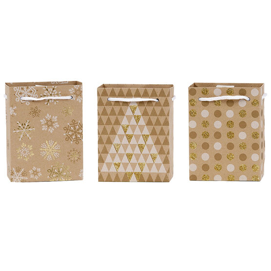 Plus Mark Lodge Kraft Gift Bag - Petite - Assorted