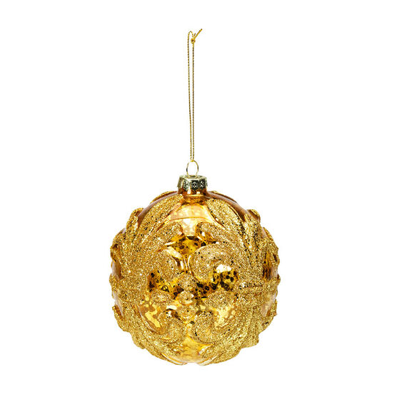 Christmas Tartan Fleur De Lys Ornament - Assorted - 10cm