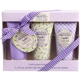 Les Fleurs de Provence Hand Cream - Countryside Lavender - 3 x 50ml