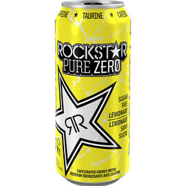 Rockstar Pure Zero Energy Drink - Lemonade - 473ml