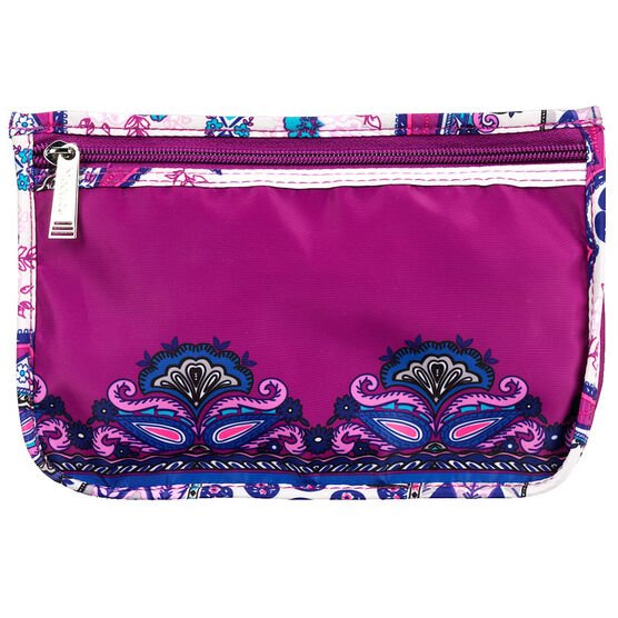 Modella Purple Patchwork Clutch - A002524LDC