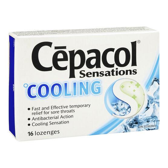 Cepacol Sensations Lozenges - Cooling - 16's