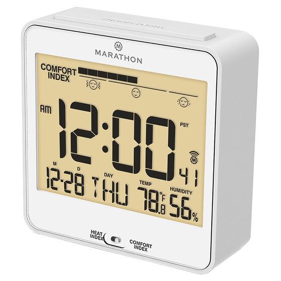 Marathon Atomic Desk Clock - CL030054WH