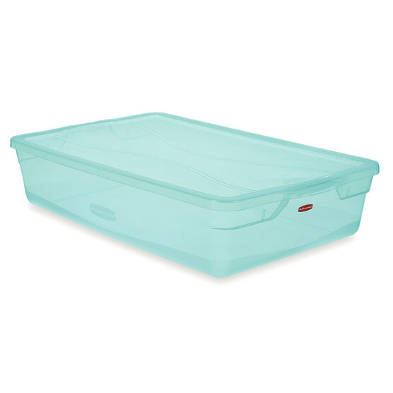 Rubbermaid Clever Store Latch Box - Teal - 38.8L