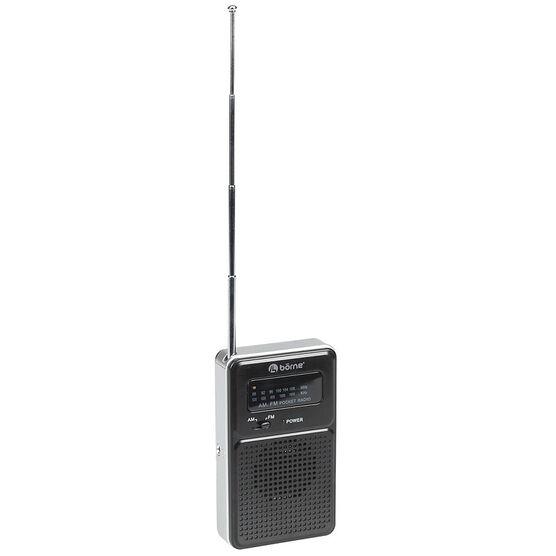 Borne Pocket AM/FM Radio - Black
