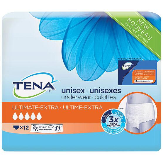 Tena Unisex Underwear Ultimate-Extra - Extra Large - 12's