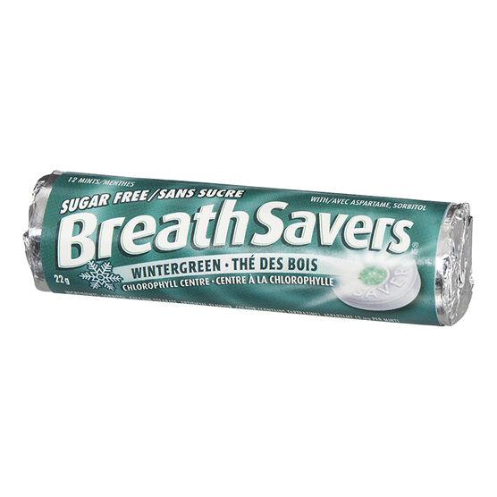 BreathSavers - Wintergreen - Sugar Free - 22g