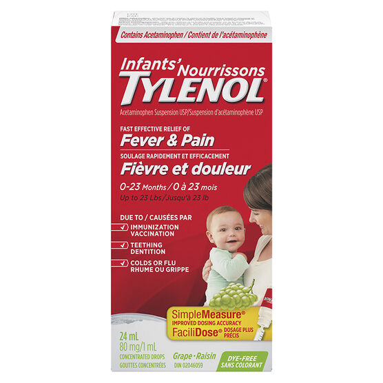 Tylenol* Infants Grape Drops - 24ml