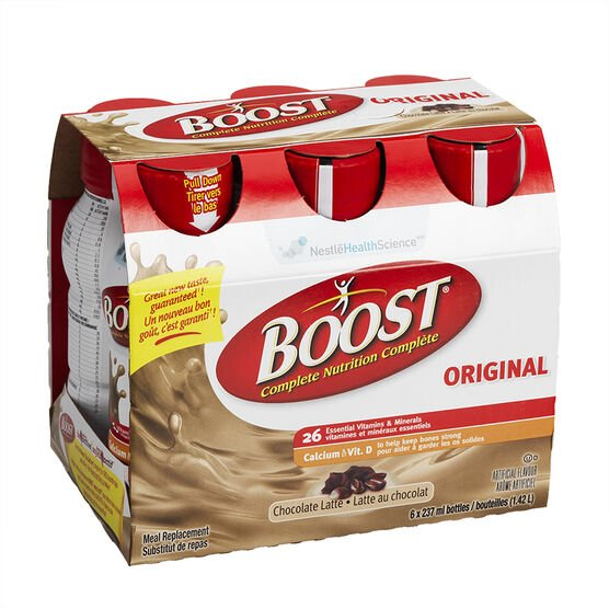 Boost Drink - Chocolate Latte - 6 x 237ml