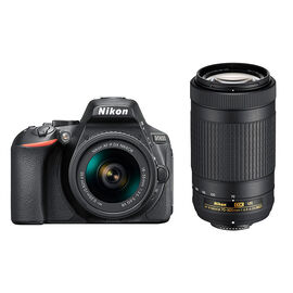 Nikon D5600 with AF-P DX 18-55mm and 70-300mm VR Lens - PKG #36022