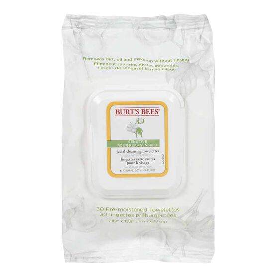 Burt's Bees Towelettes Sensitive Facial Cleansing - 30's