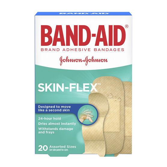 Johnson & Johnson Band-Aid Skin-Flex Bandages - Assorted - 20's