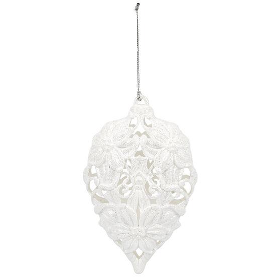 Polar Ice Plastic Filigree Ornament - 5.7in - Assorted