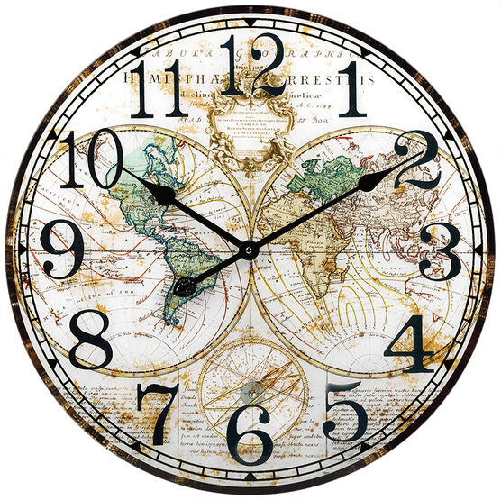 London Drugs Glass Wall Clock - Globe