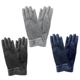 Simon Chang Ladies Gloves with Buckle - Assorted