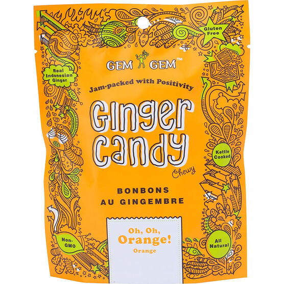 Gem Gem Ginger Candy - Oh, Oh, Orange - 99g