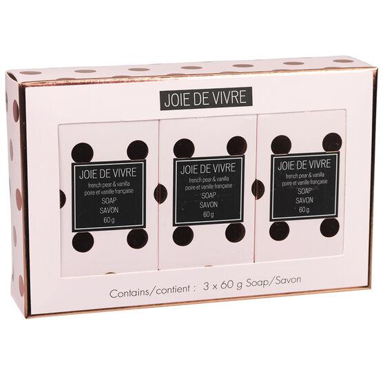 Joie De Vivre Soap Set - French Pear & Vanilla - 3 x 50g