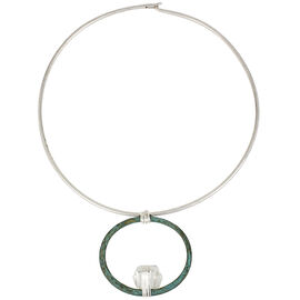 Robert Lee Morris Silver Plated Round Wire Necklace - Patina