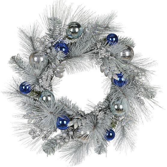 Danson Flocked Pine Wreath - 24in