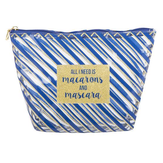 Modella Candy Stripe Large Clutch - Blue - A004987LDC