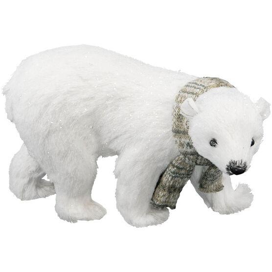 Polar Ice Polar Bear with Scarf - 8.5in