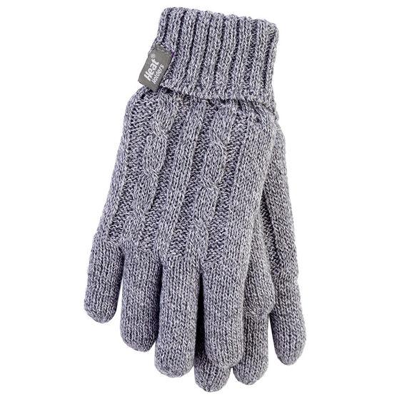 Heat Holders Ladies Knit Gloves - Grey - Large