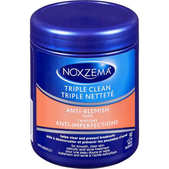 Noxzema Triple Clean Anti Blemish Facial Pads - 90s