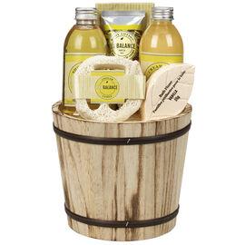 ECOBALANCE Basket Bath Gift Set Vanilla - 6 piece