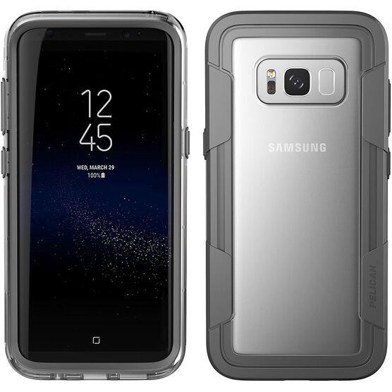 Pelican Voyager  Case for Samsung Galaxy S8+ - Clear/Grey - PNVOY5876CLGR