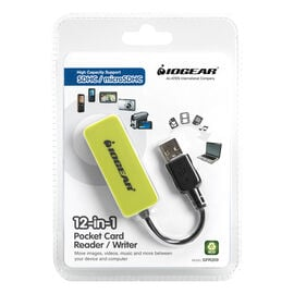 IOGEAR USB 2.0 12-in-1 Pocket Card Reader/Writer - GFR209