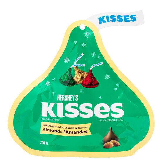 Hershey Christmas Kisses - Almonds - 200g