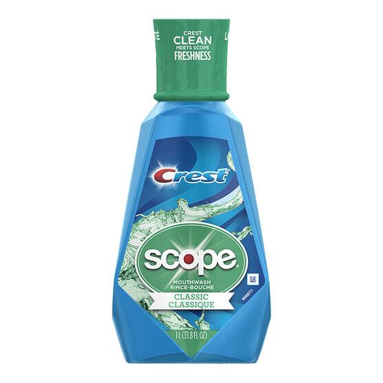 Crest Scope Mouthwash - Cool Peppermint - 1 litre