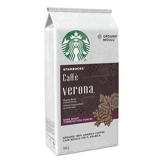 Starbucks Café Verona Ground Coffee - Dark Roast - 566g