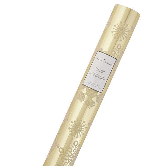 Hallmark Signature Foil Roll Wrap - Snowflake