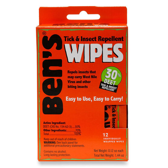 Ben's Insect Repellant Wipes - 12's