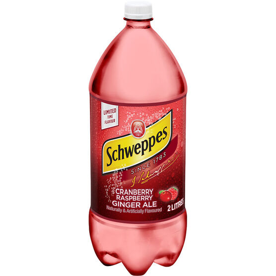 Schweppes Cranberry Raspberry Ginger Ale - 2L