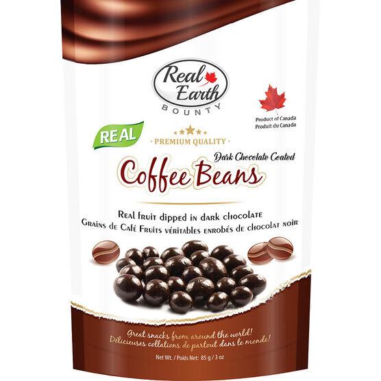 Real Earth Dark Chocolate Coffee Beans - 85g