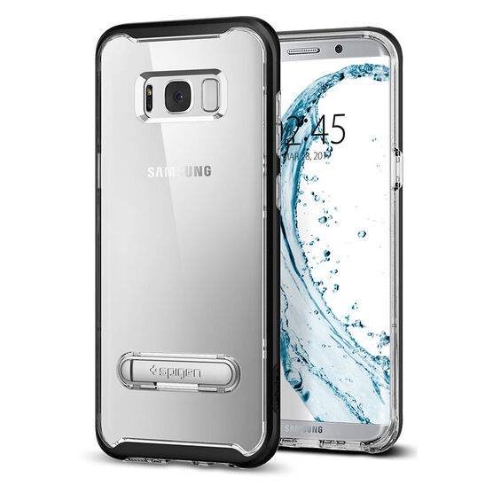 Spigen Crystal Hybrid Case for Samsung Galaxy S8 - Clear/Black - SGP565CS20835