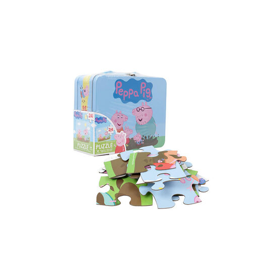Peppa Pig Tin Box with Puzzle