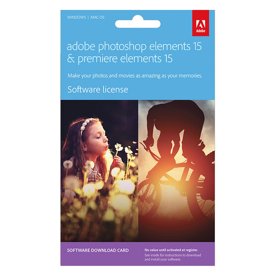 Adobe Photoshop Premier Elements Bundle 15 License