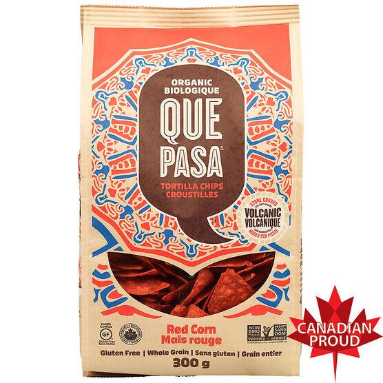 Que Pasa Tortilla Chips - Red Corn - 300g