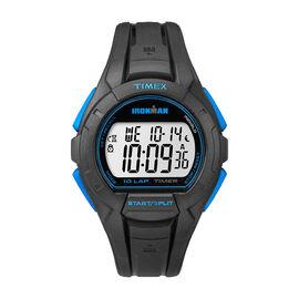 Timex Ironman 10 Lap Full Size Watch - Black/Blue - TW5K93900GP