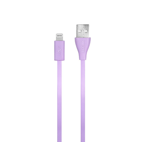 Logiix Flat Flex Jolt Lightning Cable - Limited Edition - Lavender - LGX12210