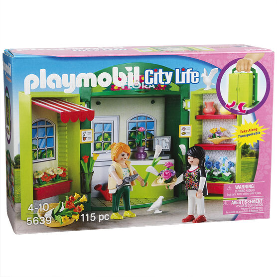 Playmobil City Life - Play Box - Flower Shop + 56399