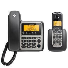 Motorola Corded/Cordless Dual Handset Phone - Black - M802C