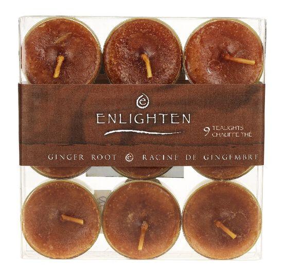 Enlighten Tealights - Ginger Root - 9 pack