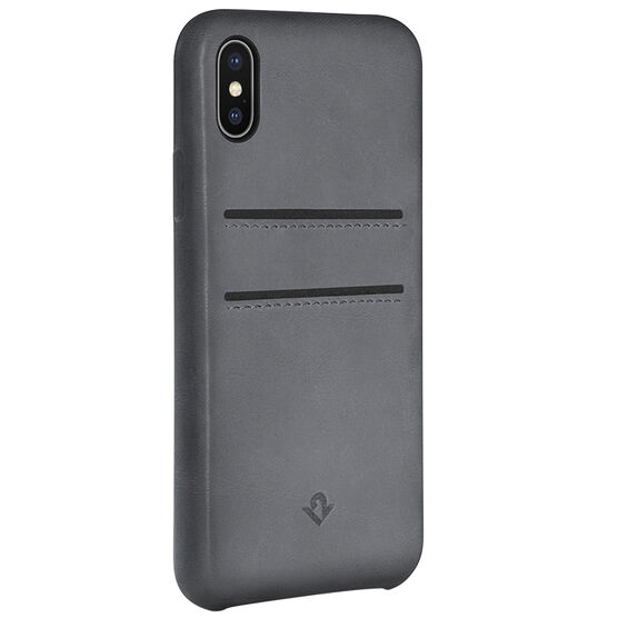 Twelve South Relaxed Leather Case with Pockets for iPhone X - Grey - TS121739