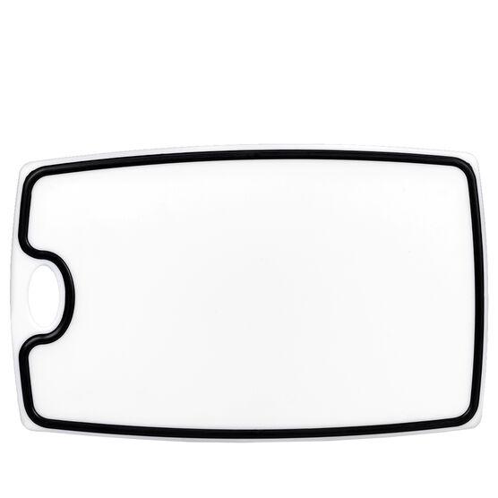 London Drugs Cutting Board - White/Black - 35.5 x 22 x 1cm