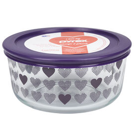 Pyrex Simply Store Container - Purple Hearts - 4 cups